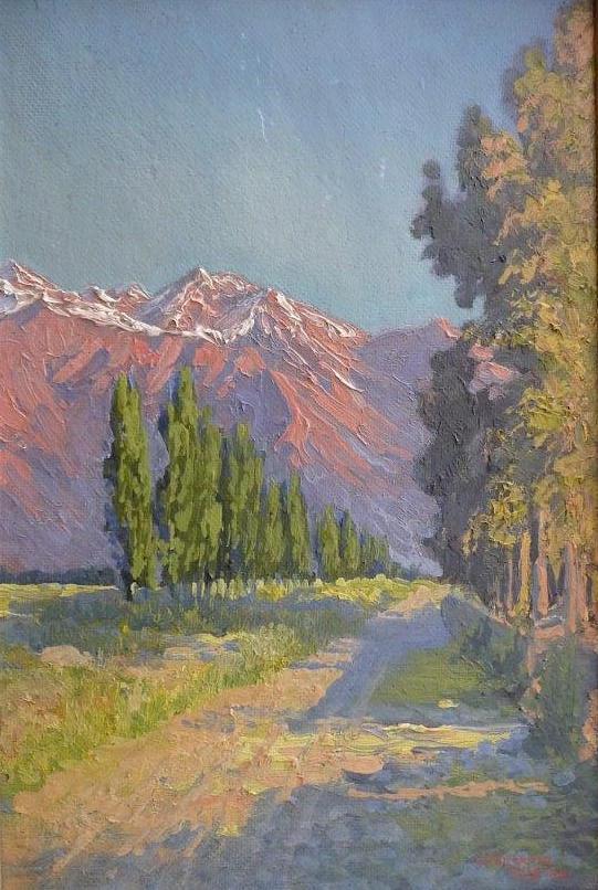 Cordillera San Ramon near Santiago, Los Leones, 1916