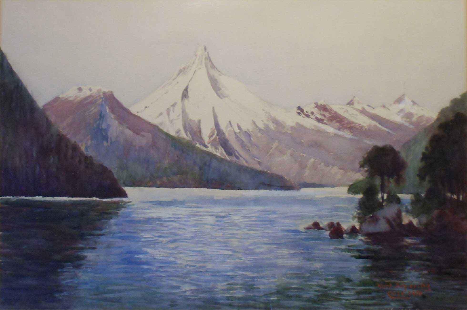 Puntiagudo, Lago Todos los Santos, Chile, by German artist Kurt Schiering